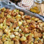 Bocconcini di Pollo e Patate al Forno