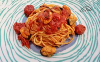 Spaghetti alle Cozze con Pomodorini