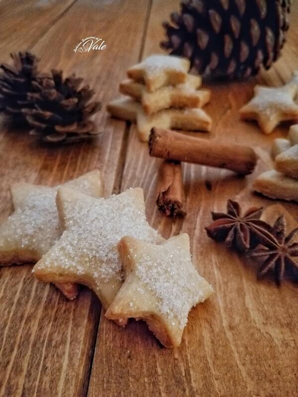Stelle Zuccherate alla Cannella, biscotti natalizi