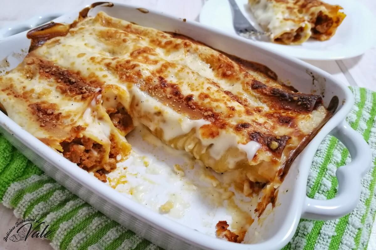 Cannelloni Semplici con ragù veloce e besciamella