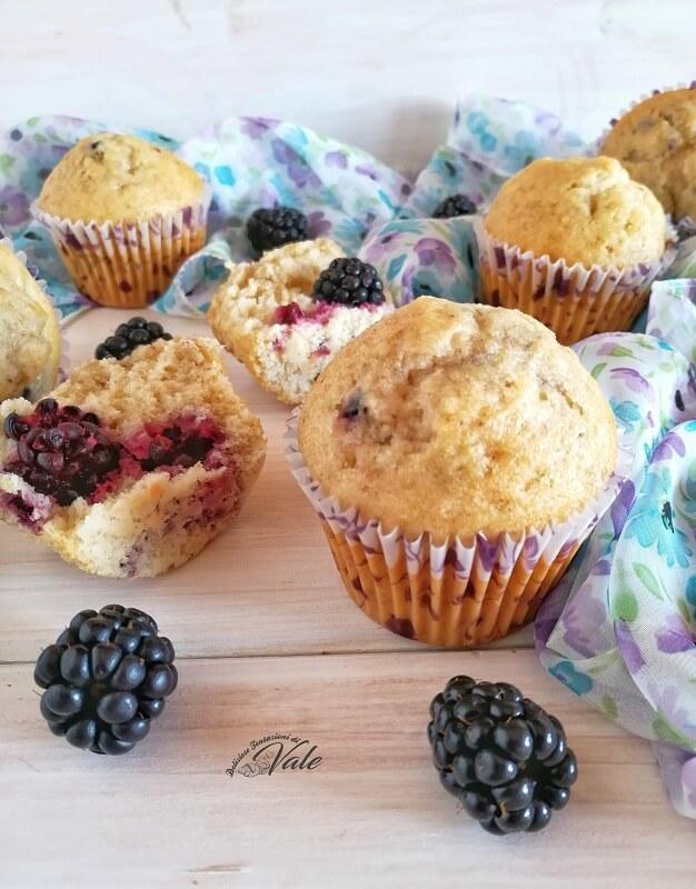 Muffin alle More senza burro