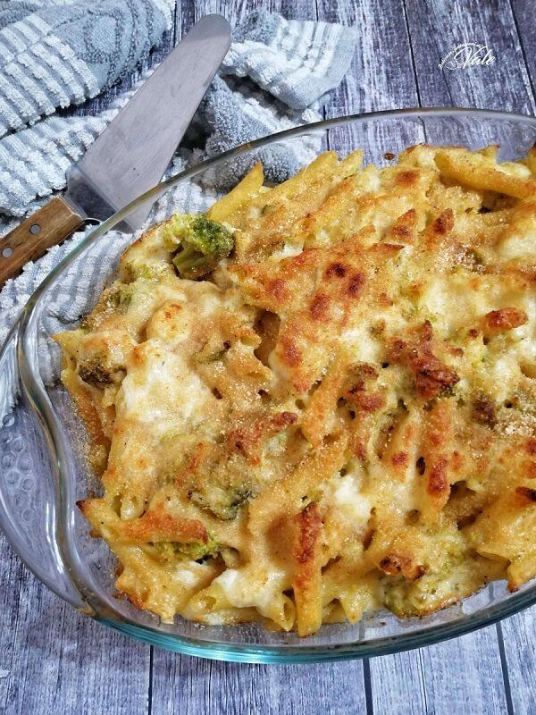 Pasta Gratinata Broccoli e Mozzarella