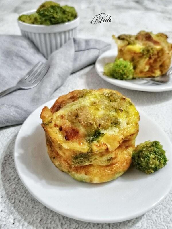 Tortini di Frittata ai Broccoli al Forno
