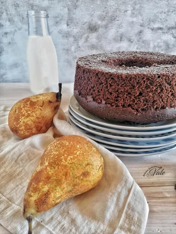 Chiffon Cake Pere e Cioccolato
