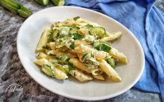 Penne con Zucchine e Crema al Parmigiano