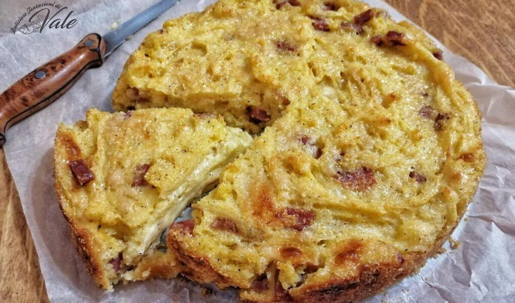 Pizza di Farinella o Migliaccio Salato