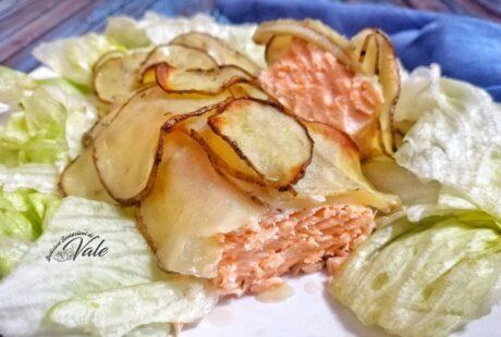 Salmone in Crosta di Patate