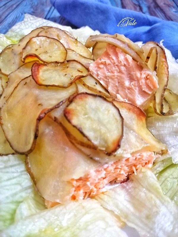 Salmone in Crosta di Patate light