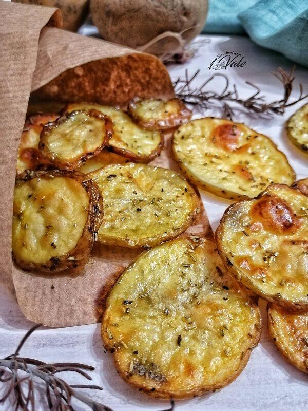 Chips di Patate al Forno croccanti