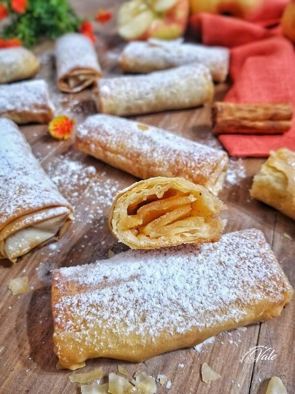 Involtini di Pasta Fillo con le Mele