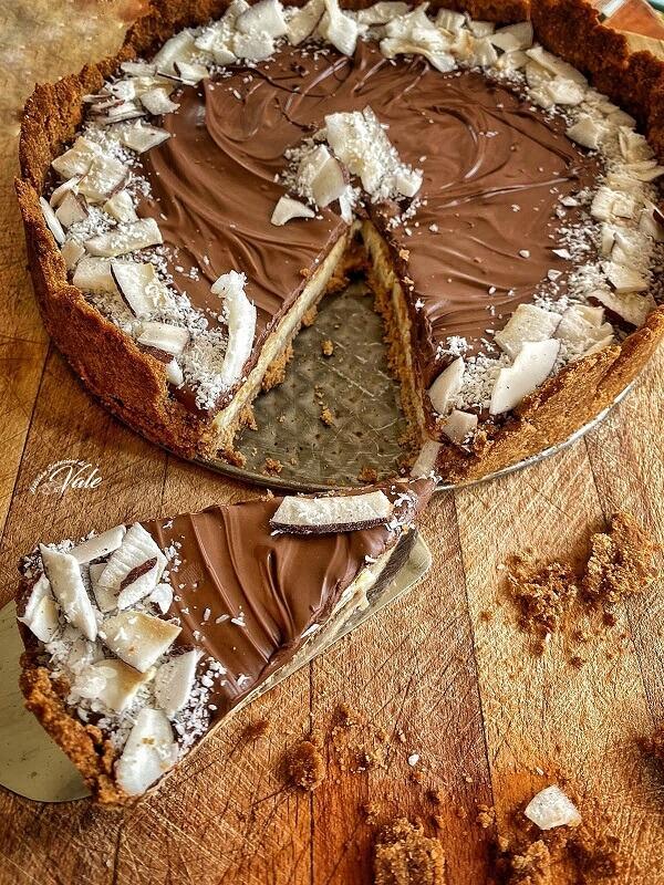 Cheesecake Cocco e Nutella senza cottura