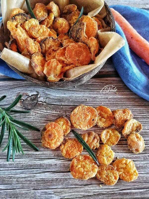 Chips di Carote al forno o fritte