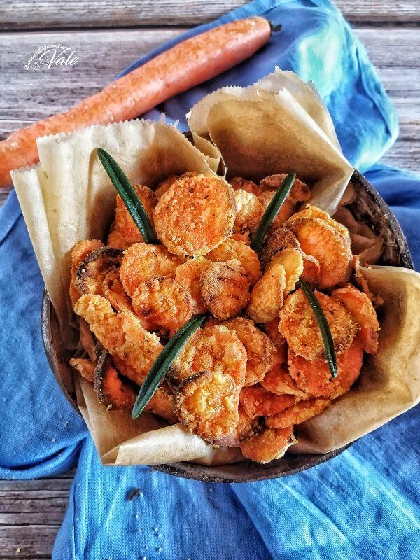 Chips di Carote fritte o al forno