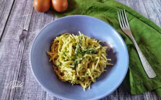 Spaghetti Risottati con Uova e Asparagi