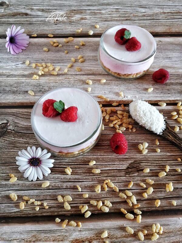 Dessert ai Lamponi e Cocco