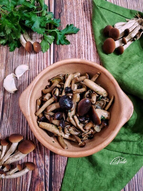 Funghi Pioppini in Padella