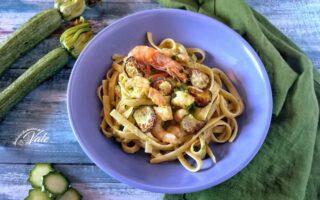 Linguine con Gamberi e Zucchine