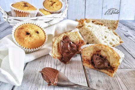 Muffin di Pane e Nutella