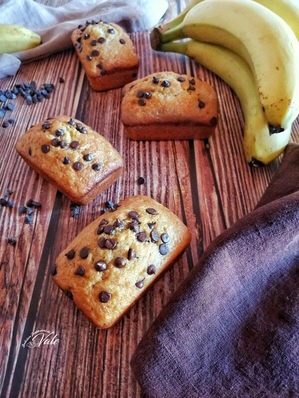 Plumcake alle Banane e Gocce di Cioccolato