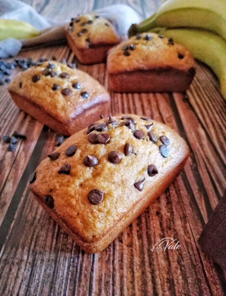Plumcake con Banane e Gocce di Cioccolato