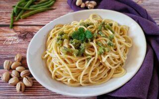 Spaghetti Fagiolini e Pesto di Pistacchi