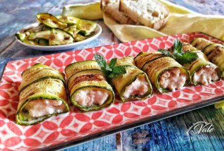 Involtini di Zucchine con Tonno e Mozzarella