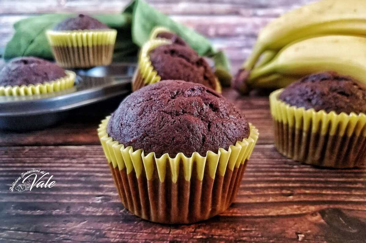 Muffin Cioccolato e Banane
