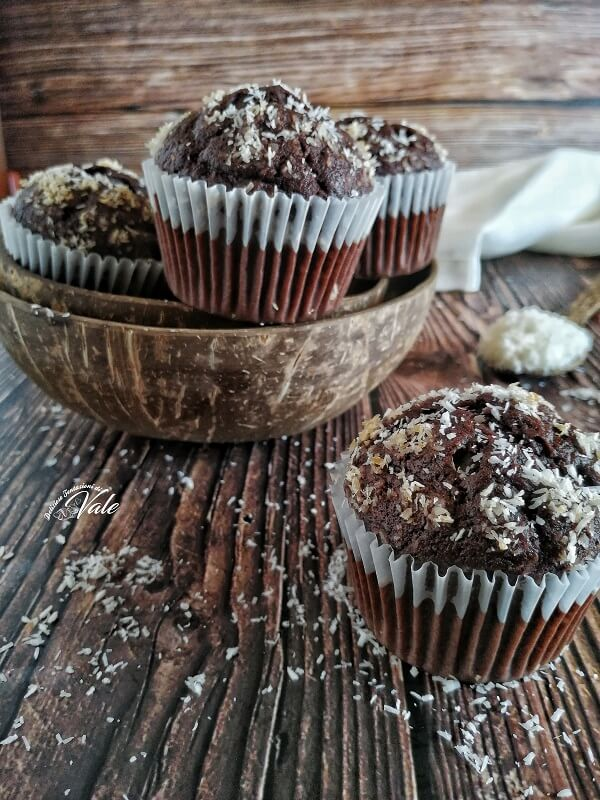 Muffin Cocco e Cioccolato senza lattosio