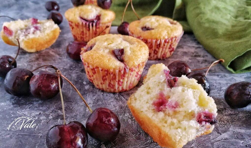 Muffin alle Ciliegie con yogurt