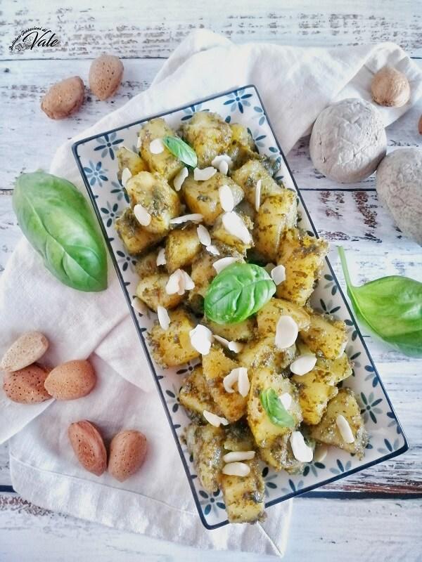 Patate con Pesto al Basilico