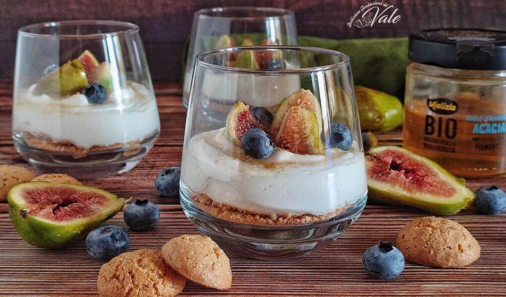Dessert ai Fichi con Amaretti e Ricotta