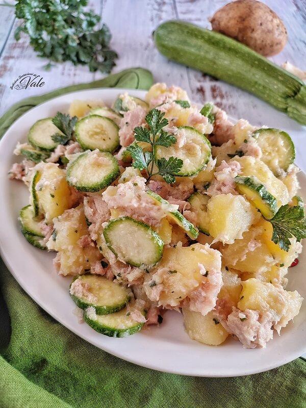 Insalata con Patate, Tonno e Zucchine