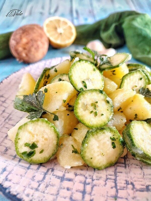 Insalata di Patate e Zucchine Crude