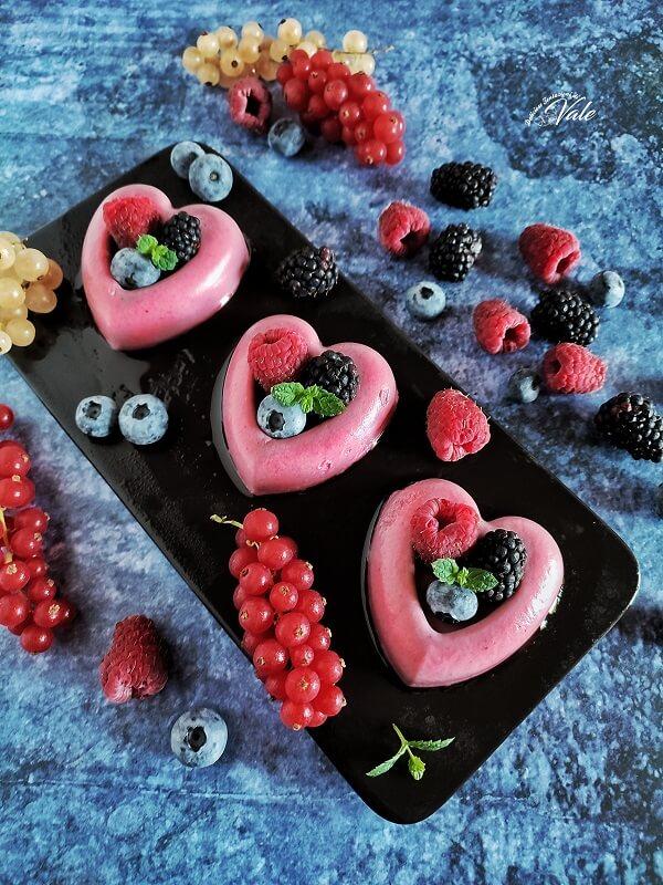 Panna Cotta con Frutti di Bosco