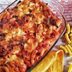 Pasta al Forno con Melanzane, Polpettine e Mozzarella