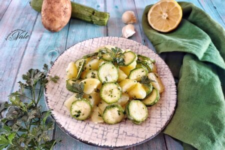 Patate e Zucchine Crude all'Insalata