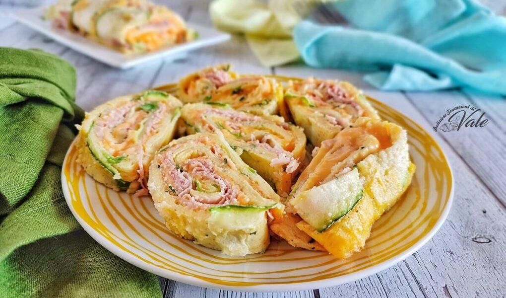 Rotolo di Frittata con Zucchine, Prosciutto e Cheddar