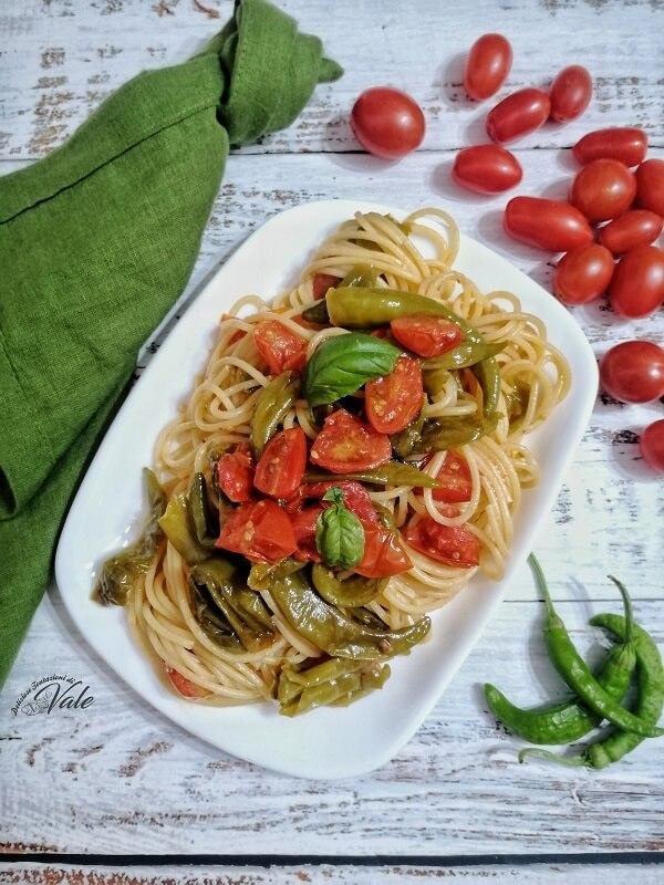 Spaghetti con Friggitelli alla napoletana