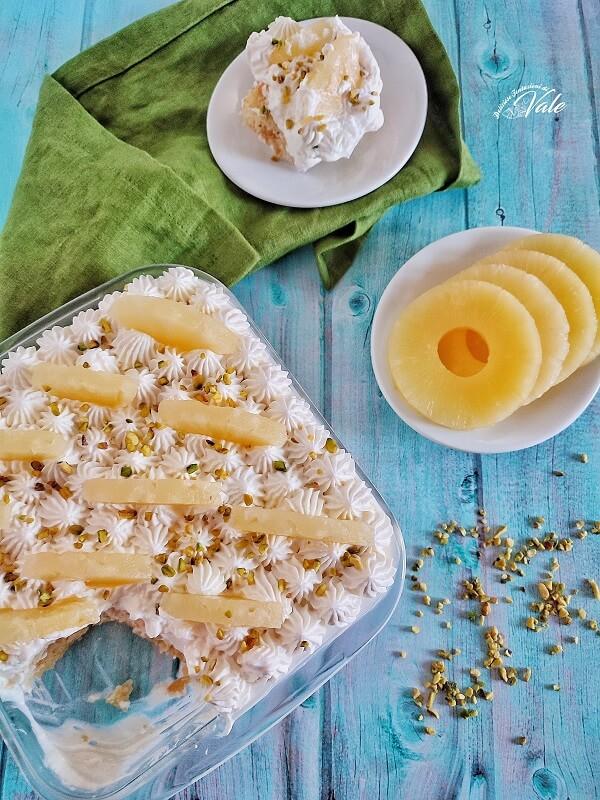 Tiramisù all'Ananas senza uova
