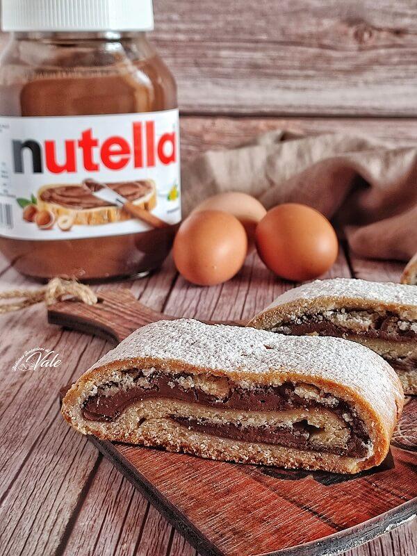 Biscotti Arrotolati alla Nutella senza burro