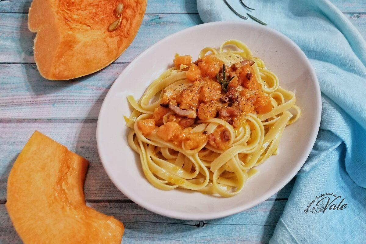 Fettuccine Zucca e Pancetta