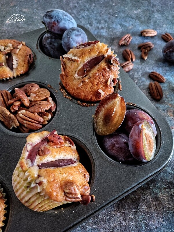 Muffin Prugne e Noci senza burro