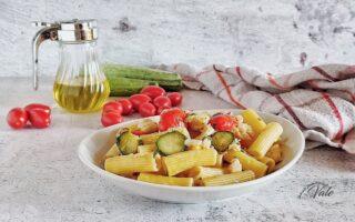 Pasta con Merluzzo, Zucchine e Pomodorini