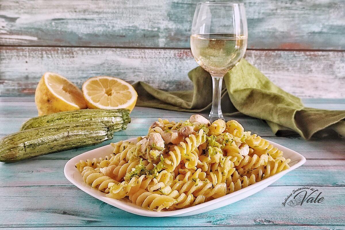 Pasta con Zucchine e Pesce Spada