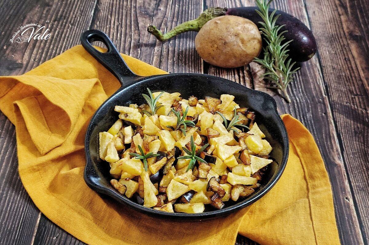 Patate e Melanzane in Padella