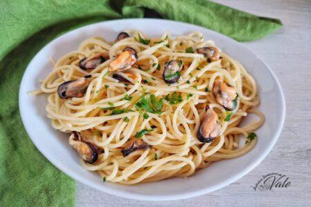 Spaghetti con le Cozze in Bianco