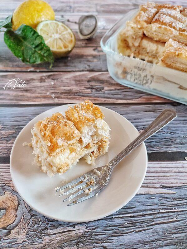 Torta di Sfogliatine con Crema al Limone
