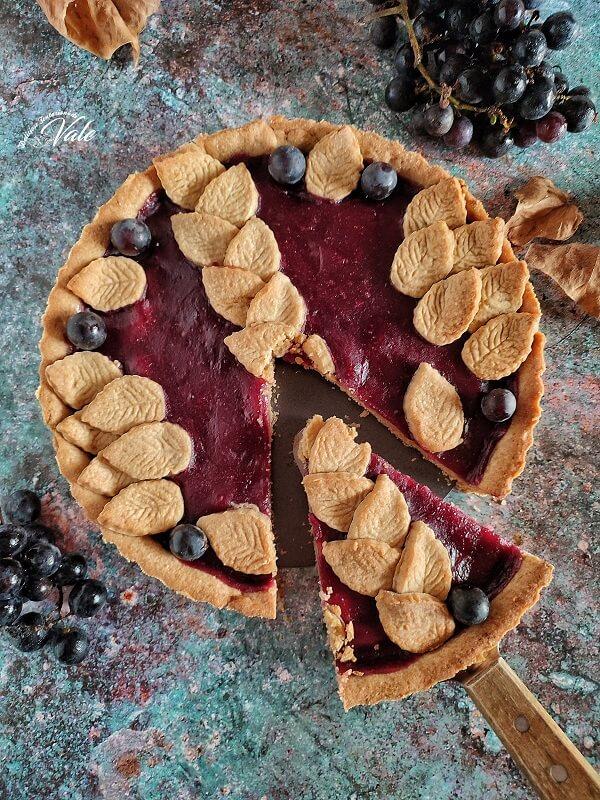 Crostata d'Autunno (cannella e uva fragola)