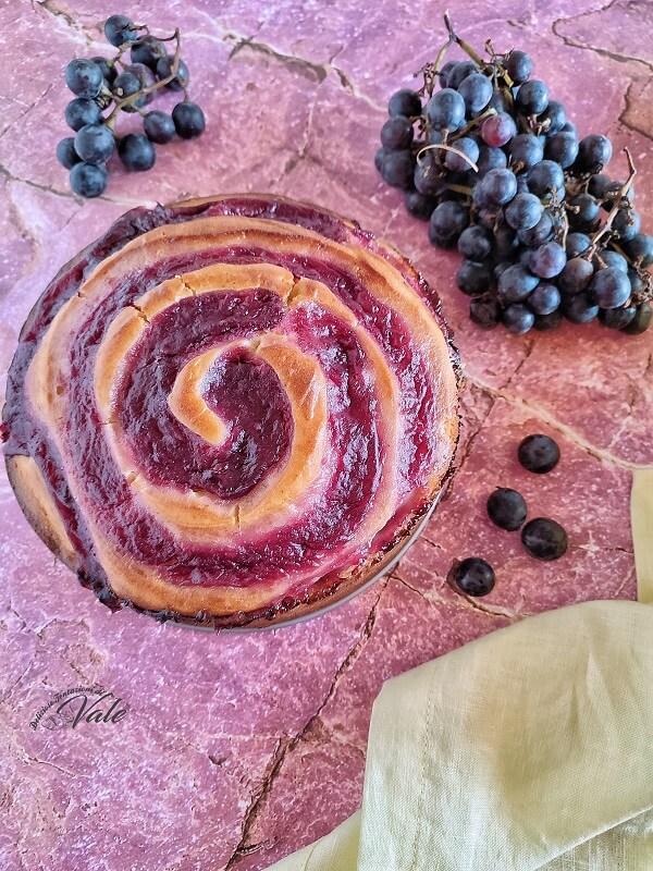 Torta Vortice di Uva Fragola